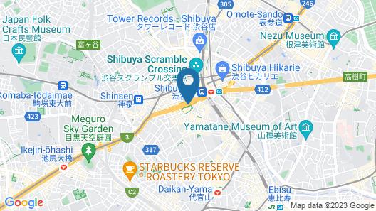 Cerulean Tower Tokyu Hotel Map