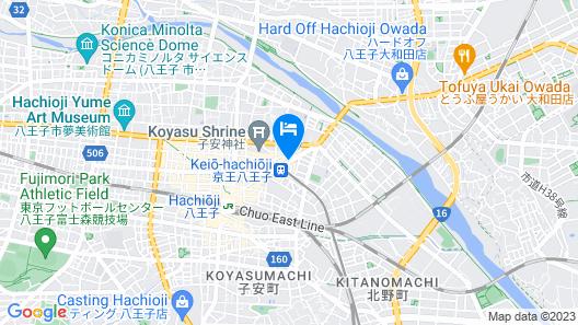 R&B Hotel Hachioji Map