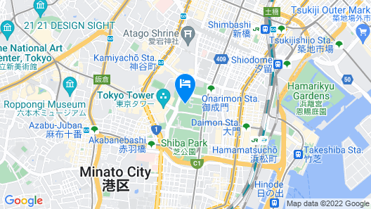 Tokyo Prince Hotel Map