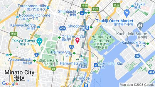 HOTEL MYSTAYS PREMIER Hamamatsucho Map