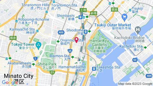 Mitsui Garden Hotel Shiodome Italia-gai Map