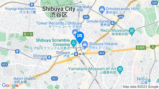 Shibuya Tokyu REI Hotel Map