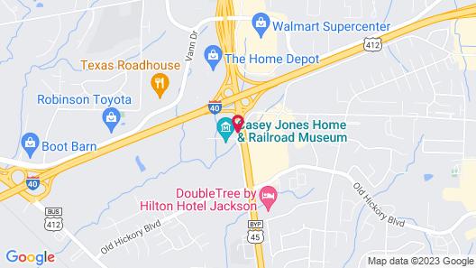 Motel 6 Jackson, TN Map