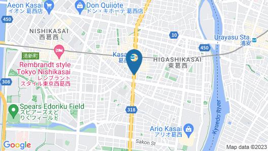 Hotel Lumiere Kasai Map