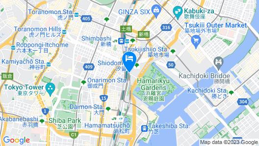 Hotel Villa Fontaine Grand Tokyo-Shiodome Map