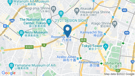 Candeo Hotels Tokyo Roppongi Map