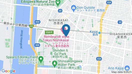 Hotel Lumiere Nishikasai Map