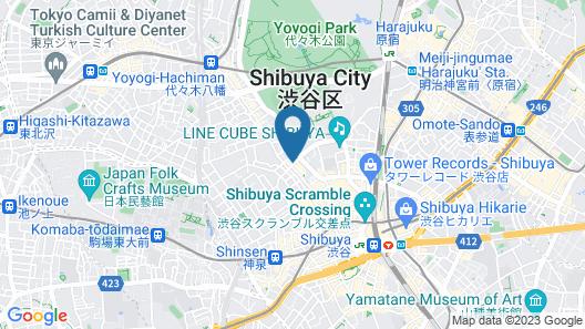 Shibuya Creston Hotel Map
