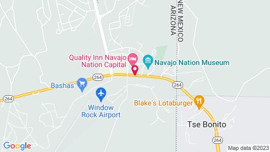Quality Inn Navajo Nation Capital Map