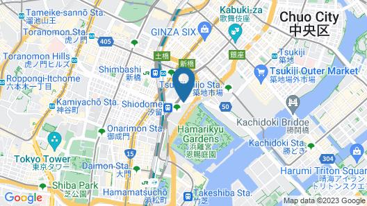 Conrad Tokyo Map