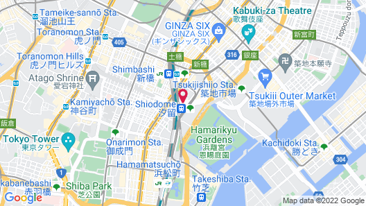 Park Hotel Tokyo Map