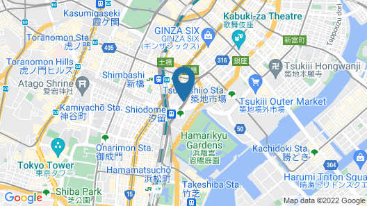 The Royal Park Hotel Iconic Tokyo Shiodome Map