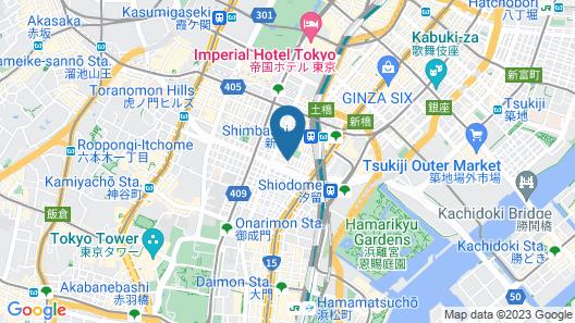 Sotetsu Fresa Inn Shinbashi-Karasumoriguchi Map