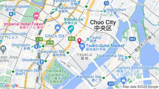 Via Inn Higashi Ginza Map