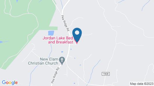 Jordan Lake B & B Map
