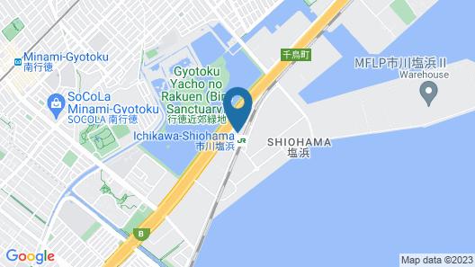 Nice Inn Hotel Ichikawa Tokyo Bay Map