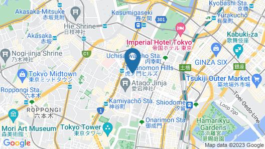 Andaz Tokyo Toranomon Hills - a concept by Hyatt Map