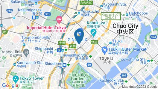 HOTEL MUSSE GINZA MEITETSU Map