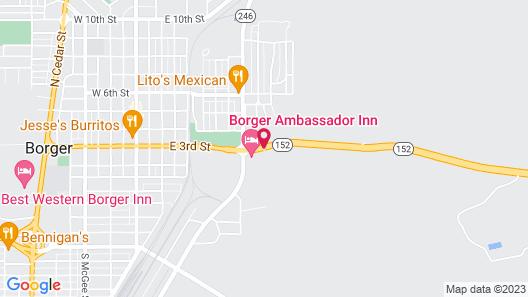 Borger Ambassador Inn Map
