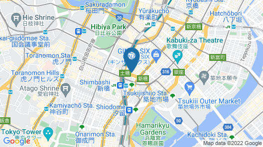 Ginza Grand Hotel Map
