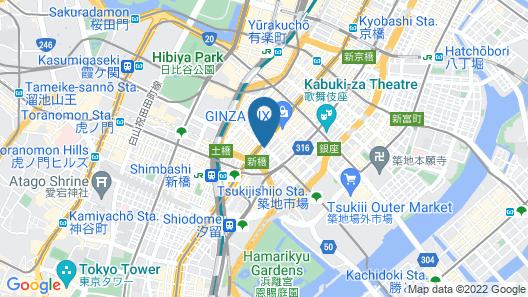The Royal Park Canvas - Ginza 8 Map