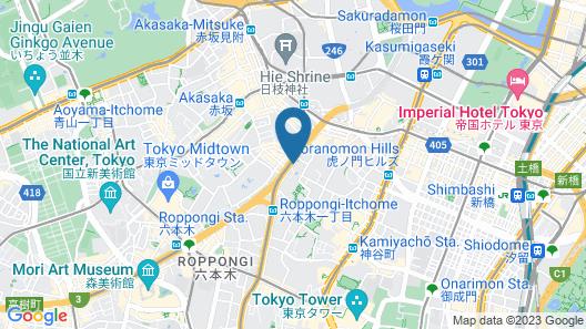 InterContinental ANA Tokyo Map