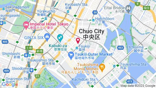 Hotel Oriental Express Tokyo Ginza Map