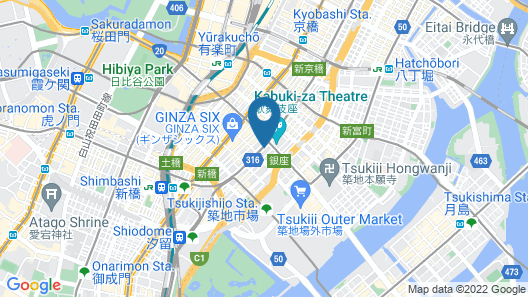 Mitsui Garden Hotel Ginza-gochome Map