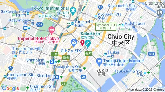 Millennium Mitsui Garden Hotel Tokyo Map