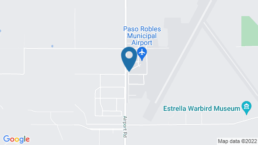 Amelia's Loft at the Paso Robles Airport Map