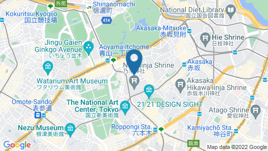 Hotel Asia Center of Japan Map