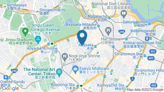 Fraser Suites Akasaka Tokyo Map