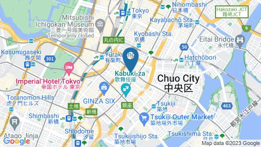 Mercure Hotel Ginza Tokyo Map