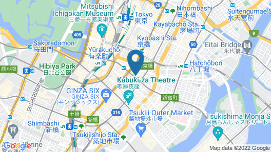 Daiwa Roynet Hotel Ginza Map
