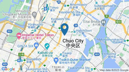HIYORI HOTEL TOKYO GINZA EAST Map