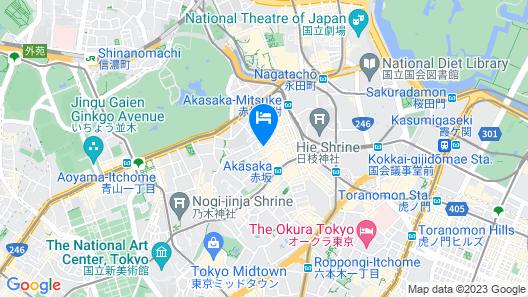 nine hours Akasaka Map