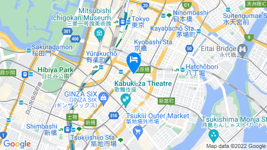 KOKO HOTEL Ginza 1chome Map