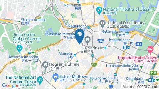Best Western Hotel Fino Tokyo Akasaka Map