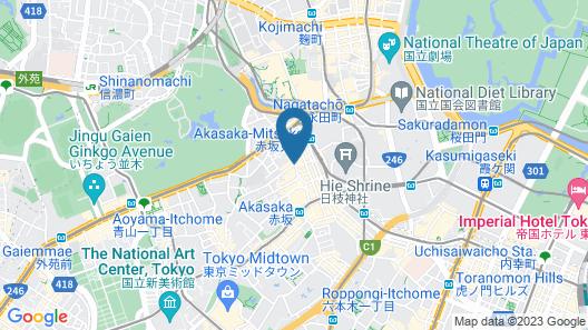Hotel Vista Premio Tokyo Akasaka Map