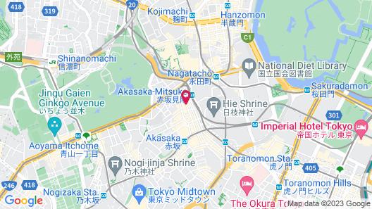 Centurion Hotel Grand Akasaka Map