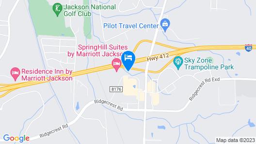 Best Western Plus Executive Residency Jackson Northeast Map