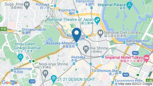 Akasaka Excel Hotel Tokyu Map