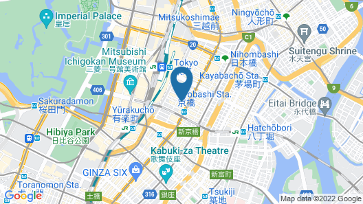 Courtyard by Marriott Tokyo Station Map