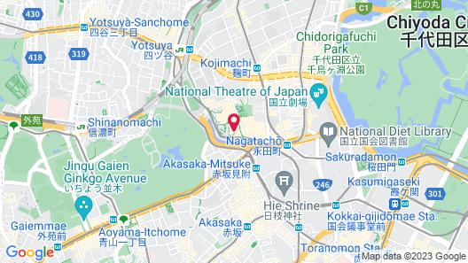 Hotel New Otani Tokyo The Main Map