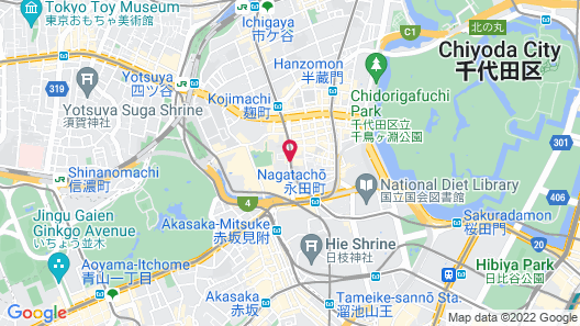 Toshi Center Hotel Tokyo Map