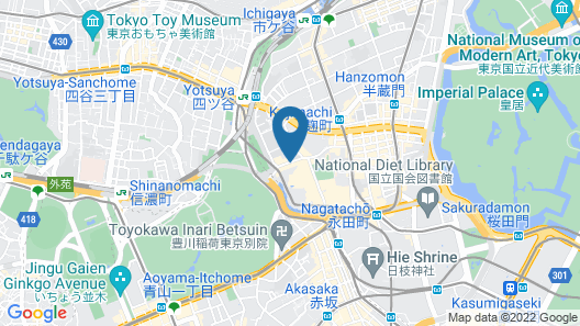 Hotel New Otani Tokyo Garden Tower Map