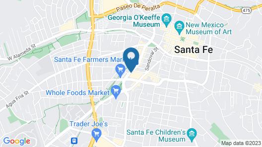 The Hacienda & Spa at Hotel Santa Fe Map