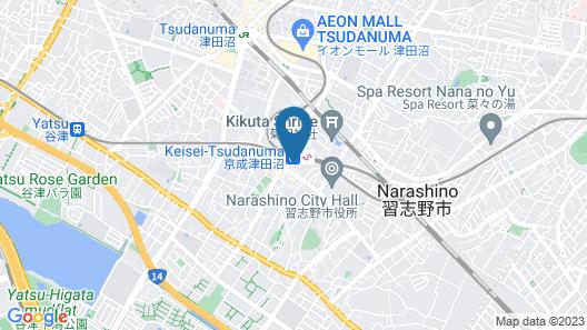 Vessel Inn Keisei Tsudanuma Ekimae Map