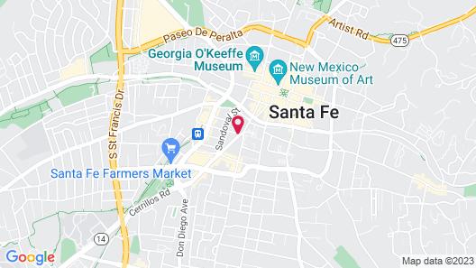 Old Santa Fe Inn Map