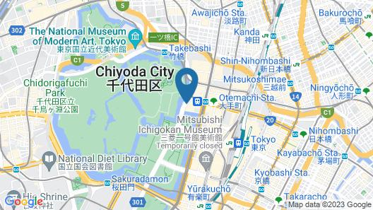 Palace Hotel Tokyo Map